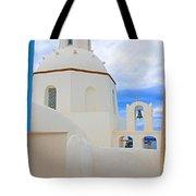 Santorini Church Dome Tote Bag