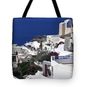 Santorini Overview Tote Bag