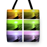 Santorini Sunsets Tote Bag