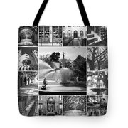 Savannah Collage Black And White Tote Bag