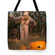 Scarecrow In A Corn Field Tote Bag