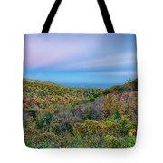 Scenic Blue Ridge Parkway Appalachians Smoky Mountains Autumn La Tote Bag