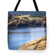Scenic Willow Lake  Tote Bag
