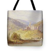 Schloss Stolzenfels From The Banks Of The Lahn Tote Bag