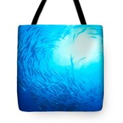 School Of Bigeye Jacks Tote Bag