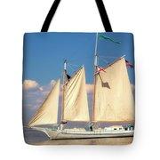 Schooner On Mobile Bay Tote Bag