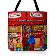 Schwartz's Hebrew Deli Tote Bag