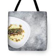 Sea Bass Fish With Mexican Salsa Sauce Tote Bag
