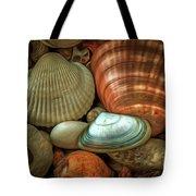 Sea Pebbles With Shells Tote Bag
