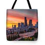 Seattle On Firer Tote Bag