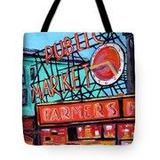 Seattle Public Market Tote Bag