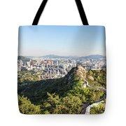 Seoul City Wall From Inwangsan Mountain In South Korea Capital C Tote Bag