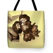 Sepia Flowers Tote Bag