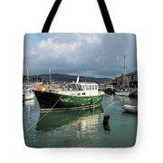 September Morning - Lyme Regis Harbour Tote Bag