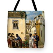 Sevillian Square Tote Bag