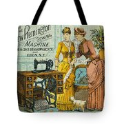 Sewing Machine Ad, C1880 Tote Bag