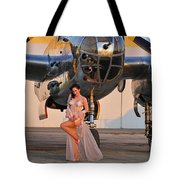 Sexy 1940s Pin-up Girl In Lingerie Tote Bag