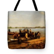 Shad Fishing On The Delaware River Tote Bag