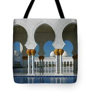 Sheikh Zayed Grand Mosque Abu Dhabi United Arab Emirates Tote Bag