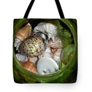 Shells Under Glass Tote Bag