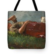 Shepherd Girl Resting Tote Bag