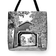 Shimanek Covered Bridge -surreal Bw Tote Bag