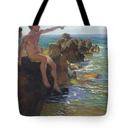 Ship Ahoy Tote Bag by Paul Von Spaun