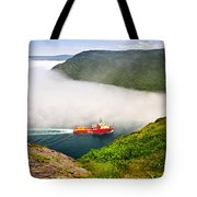 Ship Entering The Narrows Of St John's Tote Bag