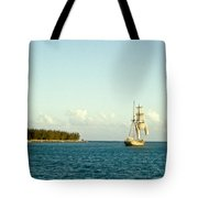 Ship Off The Bow Tote Bag