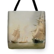 Ship Painting Tote Bag