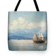 Ships Before The Caucasian Coast. Tote Bag