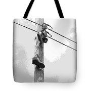 Shoefiti 2160bw Tote Bag by Brian Gryphon