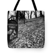 Sign In The Forest Tote Bag