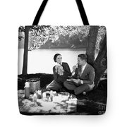 Silent Film Still: Picnic Tote Bag