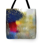 Silhouette In The Rain Tote Bag by Carlos Caetano