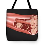 Single Muscle Fiber Structure Tote Bag