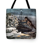 Sinking Of The Titanic Tote Bag by Granger