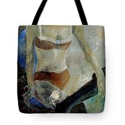 Sitting Girl  Tote Bag