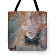 Sitting Young Girl Tote Bag