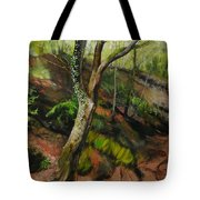 Sketch Of A Treetrunk Tote Bag