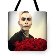 Skull Tux And Roses Tote Bag