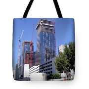 skyscraper construction in Downtown Los Angeles... Tote Bag