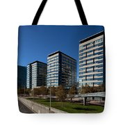 Skyscrapers In A City, Illa De La Llum Tote Bag