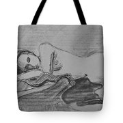 Sleeping Nude Tote Bag