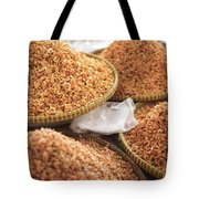 Small Asian Dried Shrimp In Kep Market Cambodia Tote Bag