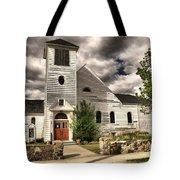 Small Town Church Tote Bag