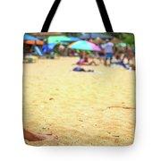 Smartphone Beach Woman Tote Bag