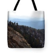 Smoky Evening Vista Over Kings Canyon Tote Bag