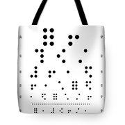 Snellen Chart - Braille Tote Bag