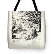 Snow Bunny Tote Bag